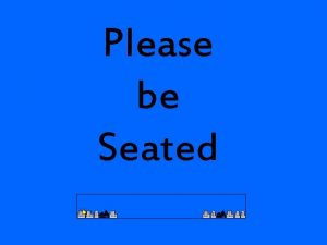 Please be Seated Its Physics is Phun November
