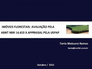 IMVEIS FLORESTAIS AVALIAO PELA ABNT NBR 14 653