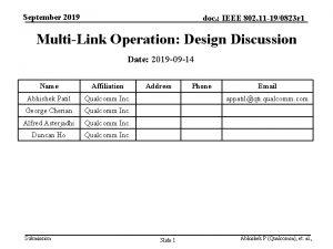 September 2019 doc IEEE 802 11 190823 r