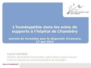 Lhomopathie dans les soins de supports lhpital de