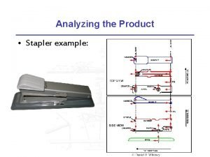 Analyzing the Product Stapler example Analyzing the Stapler
