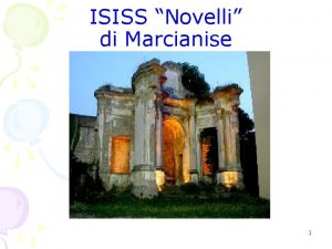 ISISS Novelli di Marcianise 1 D P R
