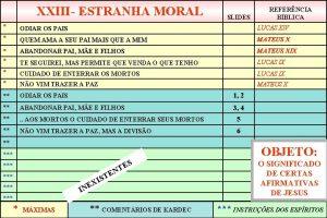 XXIII ESTRANHA MORAL SLIDES REFERNCIA BBLICA ODIAR OS