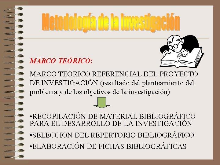 MARCO TERICO MARCO TERICO REFERENCIAL DEL PROYECTO DE