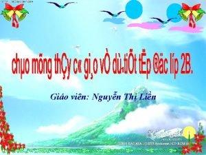1 Gio vin Nguyn Th Lin V Thy