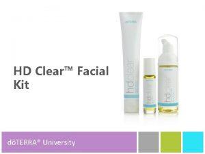 HD Clear Facial Kit dTERRA University dTERRA Product