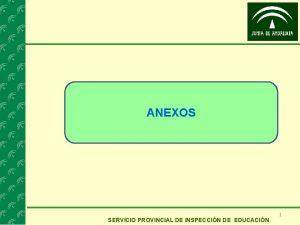 ANEXOS SERVICIO PROVINCIAL DE INSPECCIN DE EDUCACIN 1