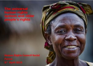 The universal human rights system and older peoples
