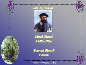 1886 Self Portrait Claud Monet 1840 1926 Famous