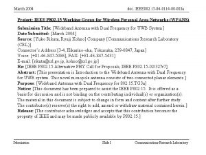 March 2004 doc IEEE 802 15 04 0114