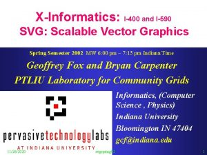 XInformatics I400 and I590 SVG Scalable Vector Graphics