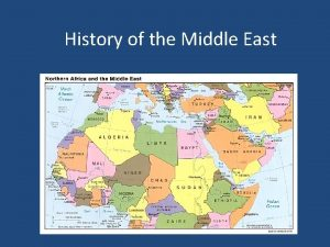 History of the Middle East Defining the Middle