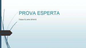 PROVA ESPERTA Classe 3 L anno 201819 GIAPPONE