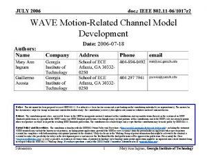 JULY 2006 doc IEEE 802 11 061017 r