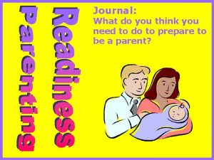 Journal What do you think you need to