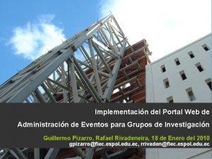 Implementacin del Portal Web de Administracin de Eventos