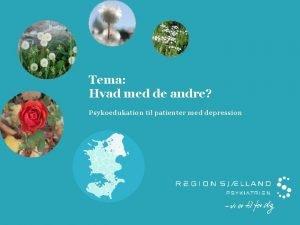 Tema Hvad med de andre Psykoedukation til patienter