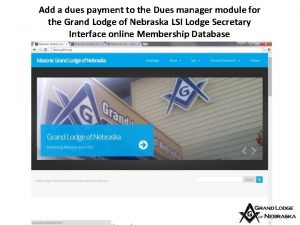 Add a dues payment to the Dues manager
