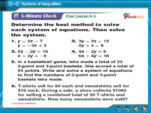 Over Lesson 6 5 Over Lesson 6 5
