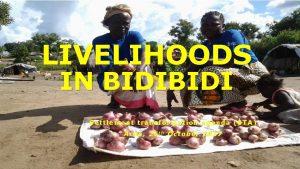 LIVELIHOODS IN BIDI S ettlement Settle ment tr