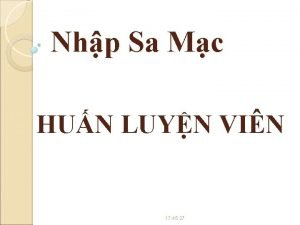 Nhp Sa Mc HUN LUYN VIN 17 45