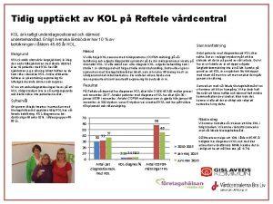 Tidig upptckt av KOL p Reftele vrdcentral KOL