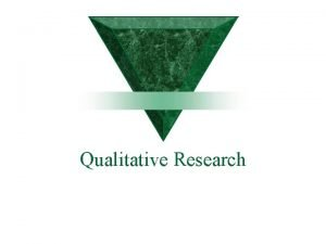 Qualitative Research The distinction between qualitative and quantitative