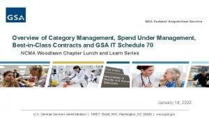 Overview of Category Management Spend Under Management BestinClass