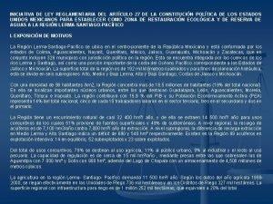INICIATIVA DE LEY REGLAMENTARIA DEL ARTCULO 27 DE