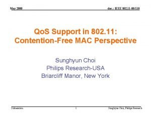 May 2000 doc IEEE 802 11 00110 Qo