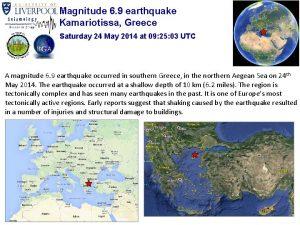 Magnitude 6 9 earthquake Kamariotissa Greece Saturday 24
