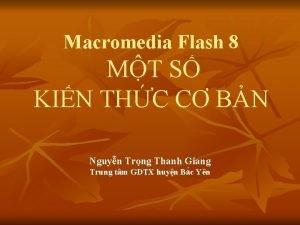 Macromedia Flash 8 MT S KIN THC C