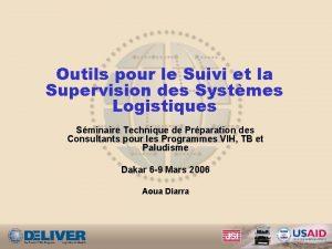 Outils pour le Suivi et la Supervision des