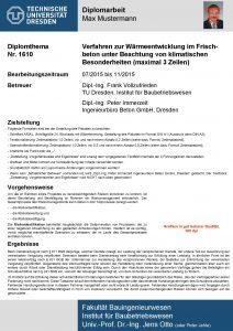 Diplomarbeit Max Mustermann Passfoto 5 x 7 cm