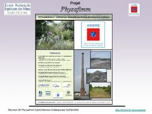 Projet Runion 00 Physafimm SaintEtienneChteauneuf 02092009 http emse