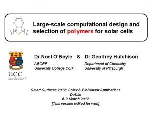 Largescale computational design and selection of polymers for