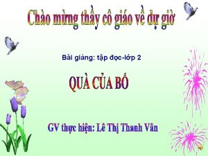 Bi ging tp clp 2 Th su ngy