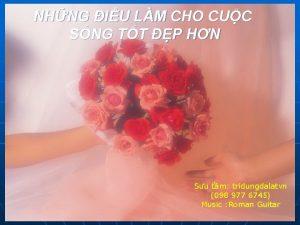 NHNG IU LM CHO CUC SNG TT P