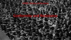 HI 290 History of Germany Conformity and Resistance