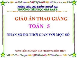 GIO N THAO GING TON 5 NH N