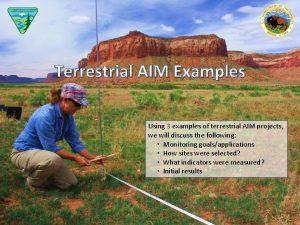 Terrestrial AIM Examples Using 3 examples of terrestrial