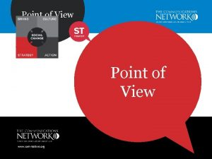 Point of View www commatters org Point of