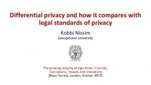 Differential privacy and how it compares with legal