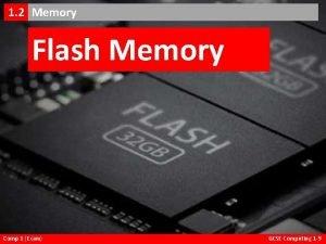 Flash Memory 1 2 EMemory 1 2 Flash