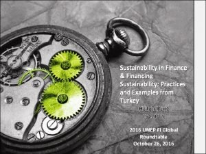 Sustainability in Finance Financing Sustainability Practices and Examples