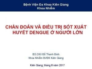 Bnh Vin a Khoa Kin Giang Khoa Nhim