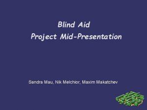 Blind Aid Project MidPresentation Sandra Mau Nik Melchior
