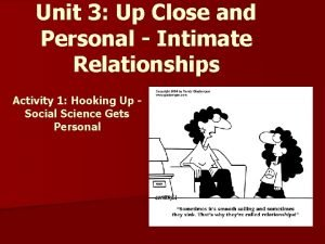Unit 3 Up Close and Personal Intimate Relationships
