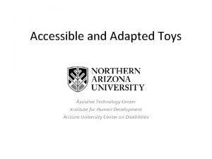 Accessible and Adapted Toys Assistive Technology Center Institute