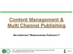 Content Management Multi Channel Publishing Wie funktioniert Medienneutrales